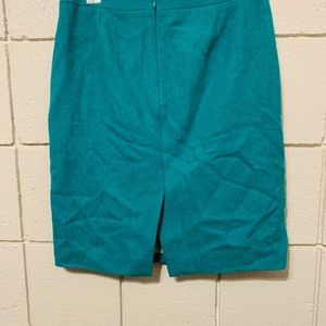 J. Crew size 2 Pencil Skirt Dark Green